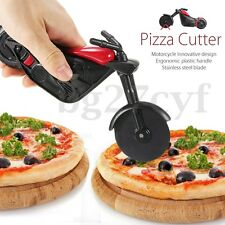 2017 Motorcycle Pizza Cutter Wheel Chopper Slicer Stainless Steel Kitchen Tool
