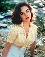 ELIZABETH TAYLOR LEGENDARY ACTRESS - 8X10 PUBLICITY PHOTO (RT963)