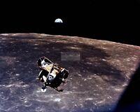 "EARTH VIEW AS LUNAR MODULE ""EAGLE"" LEAVES MOON ON APOLLO 11  8X10 PHOTO (EP-048)"