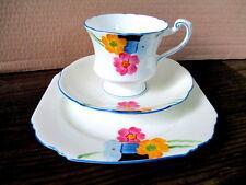 ART Deco/Vintage Cina Tè Set Trio. Paragon A MANO. artigianale dipinto a mano. inglese.