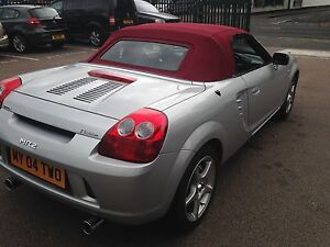 Toyota MR2 - Burgundy Soft Top Hood in Mohair Original Style With Heated Glass