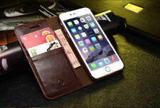 Musubo Leather Wallet Card Holder Stand Flip Case Cover for Apple iPhone 6 6s P Brown iPhone 6/6s