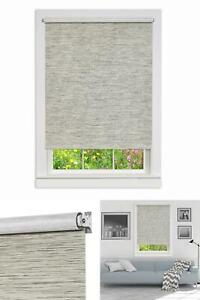 Heather Gray Cordless Paper Privacy Roller Shade - 30 In. W X 72 In. L