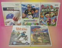 Nintendo Wii Wii U Games LOT Bowling Madden Shaun White Mini Golf Excite Truck
