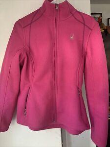 Womens Dark Pink/Magenta Spyder Jacket Zip Up Hooded Style 0056 Size Med