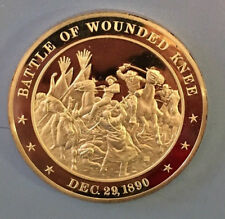 Battle of Wounded Knee - Dec 29, 1890 - Sioux Soldier Horse Medal Silver Coin