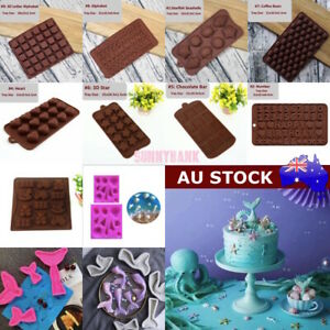Silicone Cake Decor Moulds Ice Tray Candy Cookie Chocolate Baking Mold 40+ Style