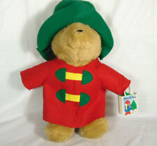 "Paddington Bear In Red Rain Coat With Bag and Tree 17 "" Tall Sears"