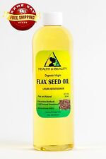 FLAX SEED OIL ORGANIC CARRIER VIRGIN COLD PRESSED PURE 12 OZ