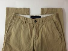American Eagle 31 X 30 Pants Chino Khaki Beige Tan Relaxed Straight Cotton Men's