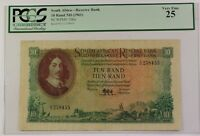 (1961) South Africa 10 Rand ND Reserve Bank Note SCWPM# 106a PCGS VF-25
