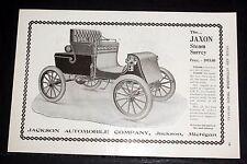 1903 OLD MAGAZINE PRINT AD, THE JAXON STEAM SURREY, STEAM IS THE BEST SERVANT!