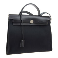 HERMES HER BAG ZIP 31 2 in 1 2way Hand Bag 0 TS 007 AU BK Toile Militaire A48672