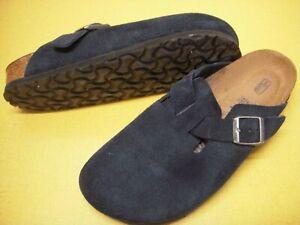 Birkenstock Boston Suede Leather Comfort Clogs Women's EUR 39 / US 8-8.5 Navy