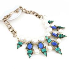 Pearl Rhinestone Statement Choker Chunky Women Jewelry Pendant Necklace Collar
