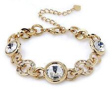 Damen Armband Gold mit Swarovski Kristall Ketten Armreif Bettel Freundschaft