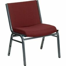 New listing Hercules Series 1000 lb. Capacity Big and Tall Extra Wide Burgundy Fabric Stack