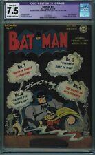 BATMAN #19 CGC 7.5 RESTORED 4TH BEST RESTORED COPY OW-W PGS 1943