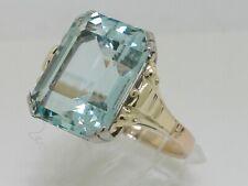 Aquamarin Ring 585 Gelbgold 14Kt Gold facettierter natürlicher Aquamarin 11,07ct