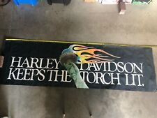 Vintage Harley Davidson Keeps The Torch Lit Banner