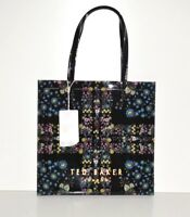 NWT Ted Baker London Tanicon Large Printed Icon Tote Unity Flag Tote Black