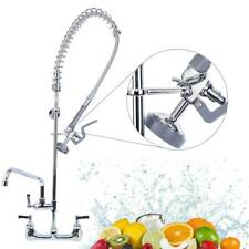 Kitchen Commercial Wall Mount Restaurant Pre-Rinse Faucet Swivel+ Add-On Tap