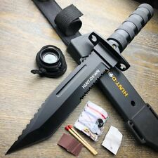 """12"""" HEAVY DUTY BOWIE TACTICAL COMBAT HUNTING KNIFE W/ SHEATH SURVIVAL CAMPING"""