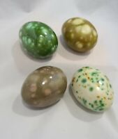 Ceramic Easter Eggs Egg Hollow Handmade Lot Of 4