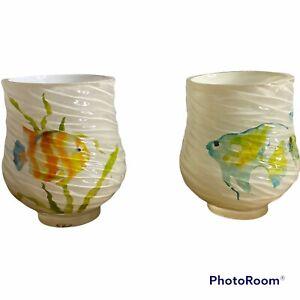 Creative Bath Rainbow Fish Resin Tumbler RBF11MULT Tropical Sea Life Water qty1