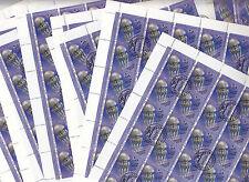 CCCP URSS 31 feuille faune de la Mer Noire Meduse  4 k 1991