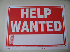 """Help wanted store signs 9""""x12' Red flexible plastic 12620"""