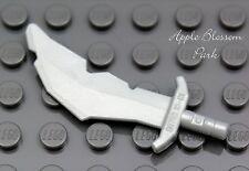 NEW Lego Skeleton/Troll SILVER SWORD Gray Minifig Scimitar Weapon Castle/Kingdom