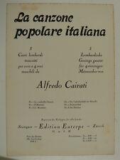 VOCAL SCORE [ mannerchor ] Alfredo CAIRATI 3 canti lombardi, TTBB