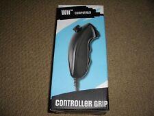 Nintendo Wii Nunchuck con cable de control controlador juego agarre Nunchuk Negro! totalmente Nuevo!