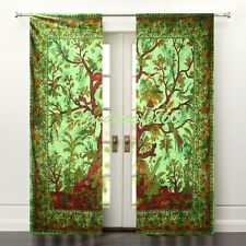 Indian Handmade Tai-N-Dai Ethnic Home Decor Life Of Tree Window & Door Curtain's
