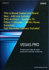 VEGAS Pro 15 Video Editing Software Sony Magix Authorized UK Seller Boxed-Sealed