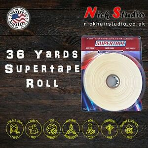 🔥SUPERTAPE ROLL 36 YARDS 1/2 INCH = 12 X 3 Yard Rolls. - DOUBLE SIDED TAPE