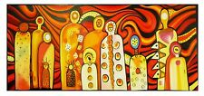 original  Art Painting Mimi Gods Fire 150cmx 70cm jane crawford Landscape