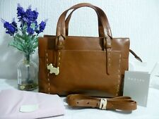 "RADLEY Beautiful Leather Tan ""Barnsley"" Crossbody Handbag ~ Dust Bag RRP £199"