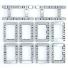 Lego Technic Medium Stone Grey Studless Frames Boxes #4 - 10 Parts - NEW