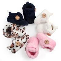 Newborn Baby Booties Boy Girl Crib Pram Shoes Winter Soft Snow Boots Prewalker