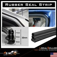 Rubber Seal Weatherstrip Lock Trim Car Auto Door Trunk Edge Guard Black 32 feet