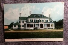 NEW JERSEY POSTCARD EARLY 1907 GOVERNORS HOUSE STATE CAMP SEA GIRT   #LL514
