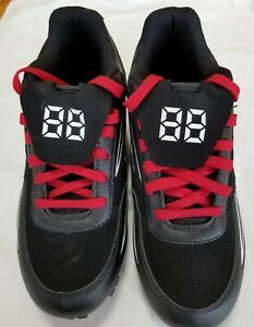 Easton Mens Cleats Size 10 Black Red #88 Baseball 1878279 Red Laces