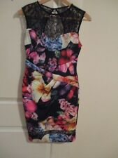 LIPSY LONDON FLORAL LACE DRESS Size UK 10 NWOT GORGEOUS FLATTERING STRETCH FIT -