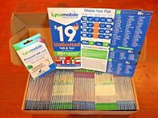 65% DISCOUNT On 1-3 Month Plans Activate $23 $29 $50 on 100 Lycamobile SIMs Bulk