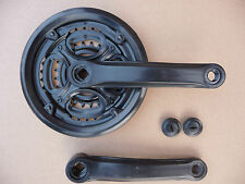 Economia NERO chainset TRIPLE chainwheel Anello sinistra manovella braccio NUOVO AFFARE conveniente