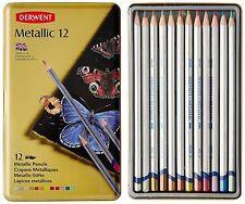 Derwent Watercolor Pencils, Metallic, Water Color, Drawing, Art, 12-Pack 0700456