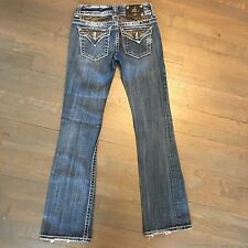 MISS ME JEANS WOMAN'S SIZE 26 x 32 JP4221R-3 BOOT DISTRESSED