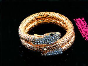 Women Fashion Betsey Johnson Crystal golden snake Jewelry Charm Bracelet